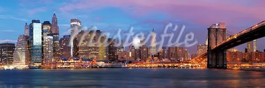 NY - Manhattan over the river early morning Stock Photo - Royalty-Free, Artist: frantysek                     , Code: 400-05731189
