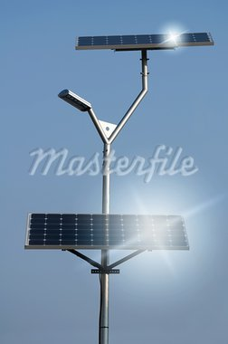 Solar panels and lamp Stock Photo - Royalty-Free, Artist: deyangeorgiev                 , Code: 400-05732107