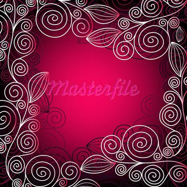 Christmas vivid pink-purple elegance frame with  lace (vector) Stock Photo - Royalty-Free, Artist: OlgaDrozd                     , Code: 400-05732613