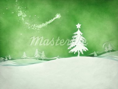 An image of a nice green christmas background Stock Photo - Royalty-Free, Artist: magann                        , Code: 400-05733698
