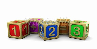 3d illustration of wooden blocks with numbers Stock Photo - Royalty-Free, Artist: madmaxer                      , Code: 400-05733758