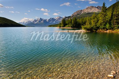High mountain lake in the summertime, Kananaskis Alberta Canada Stock Photo - Royalty-Free, Artist: BGSmith                       , Code: 400-05733800