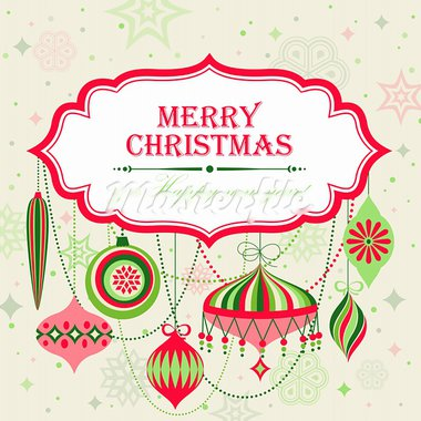 Christmas background with place for text. Vector illustration. Stock Photo - Royalty-Free, Artist: avian                         , Code: 400-05734808