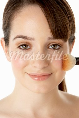 Teenage Girl Applying Make Up Stock Photo - Royalty-Free, Artist: MonkeyBusinessImages          , Code: 400-05734898