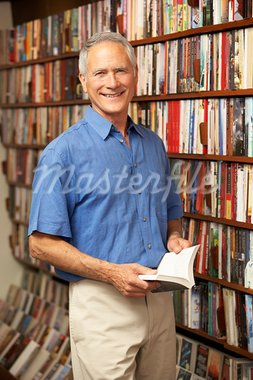 Male customer in bookshop Stock Photo - Royalty-Free, Artist: MonkeyBusinessImages          , Code: 400-05735314