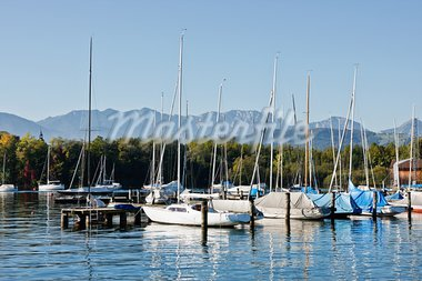 Harbor full of boats in Austria Stock Photo - Royalty-Free, Artist: xtrekx                        , Code: 400-05735743
