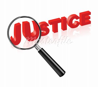 justice solve crime search law and order red text and magnify glass morality ethics thruth and harmony Stock Photo - Royalty-Free, Artist: kikkerdirk                    , Code: 400-05735765