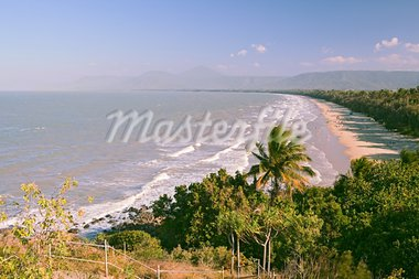 port douglas australia 4 mile beach tropical rainforest coastline queensland Stock Photo - Royalty-Free, Artist: kikkerdirk                    , Code: 400-05735776