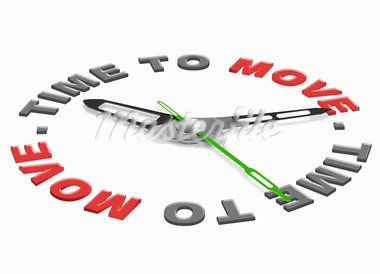 time to move moving in or out or start the action act now Stock Photo - Royalty-Free, Artist: kikkerdirk                    , Code: 400-05735840