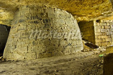 A massive column props set in the abandoned catacombs. Stock Photo - Royalty-Free, Artist: Ascold                        , Code: 400-05736164