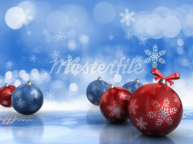Abstract 3d illustration of background with christmas balls Stock Photo - Royalty-Free, Artist: madmaxer                      , Code: 400-05738514