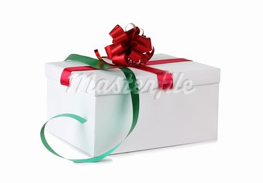 Color photo of a box and ribbon Stock Photo - Royalty-Free, Artist: grynold                       , Code: 400-05738631