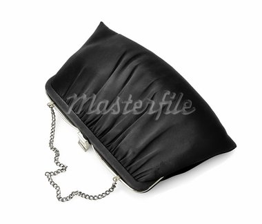 Vintage Black Fancy Bag On White Background Stock Photo - Royalty-Free, Artist: svetlanna                     , Code: 400-05739004