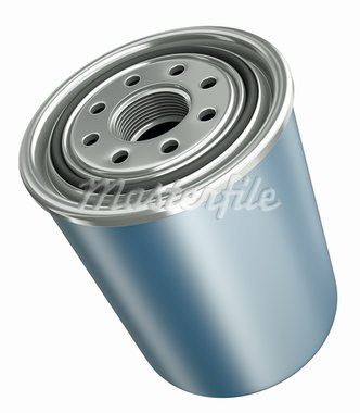 Car engine oil filter, 3D render. Stock Photo - Royalty-Free, Artist: spongecake                    , Code: 400-05739166