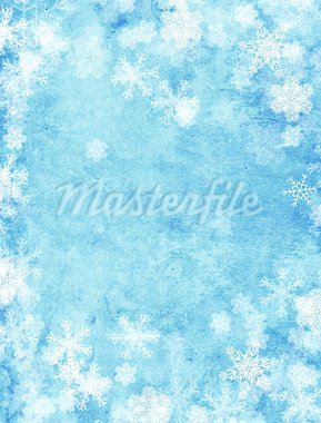 Vertical background of blue color with snowflakes Stock Photo - Royalty-Free, Artist: frenta                        , Code: 400-05740204