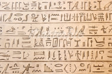 Ancient egyptian hieroglyphics carved in the stone Stock Photo - Royalty-Free, Artist: javimartin                    , Code: 400-05741655