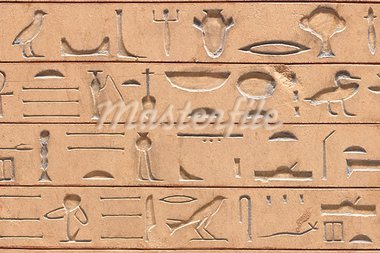 Ancient egyptian hieroglyphics carved in the stone Stock Photo - Royalty-Free, Artist: javimartin                    , Code: 400-05741656