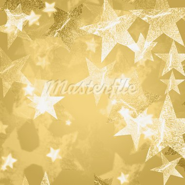 golden and white stars over beige background with feather center Stock Photo - Royalty-Free, Artist: marinini                      , Code: 400-05742165