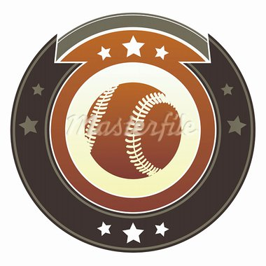 Baseball icon on round red and brown imperial vector button with star accents Stock Photo - Royalty-Free, Artist: lhfgraphics                   , Code: 400-05742357