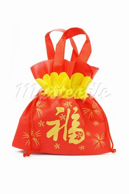 Chinese new year prosperity gift bag on white background Stock Photo - Royalty-Free, Artist: Design56                      , Code: 400-05742668