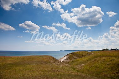 View of Stenshuvud National Park in the south of Sweden. Picture is taken from the fields of Ravlunda Stock Photo - Royalty-Free, Artist: Multiart                      , Code: 400-05742865