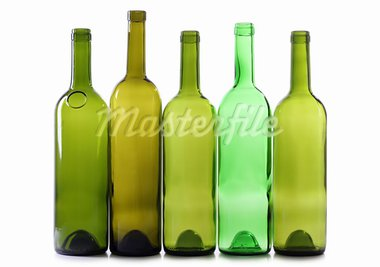 Color photo of a glass bottles with a white background Stock Photo - Royalty-Free, Artist: grynold                       , Code: 400-05743327