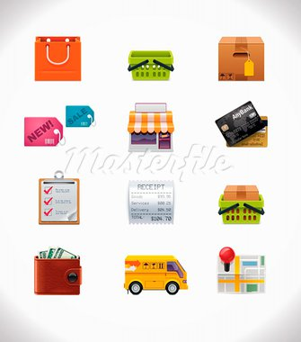 Set of the shopping and consumerism icons Stock Photo - Royalty-Free, Artist: tele52                        , Code: 400-05743738