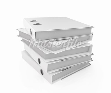 Illustration of white blank folder stack Stock Photo - Royalty-Free, Artist: kotist                        , Code: 400-05743836