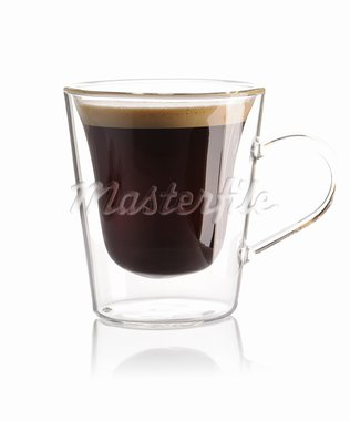 Espresso coffee isolated on white Stock Photo - Royalty-Free, Artist: haveseen                      , Code: 400-05744734