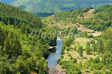 River at the Bottom of Canyon in the French Alps Stock Photo - Royalty-Free, Artist: gkuna                         , Code: 400-05745102