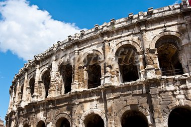 Detail of the Roman Coliseum in Nimes, France Stock Photo - Royalty-Free, Artist: gkuna                         , Code: 400-05745860