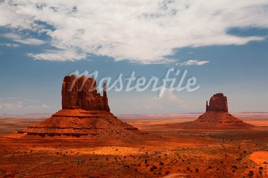 Peaks of rock formations in the Navajo Park of Monument Valley Utah Stock Photo - Royalty-Free, Artist: CaptureLight                  , Code: 400-05746025