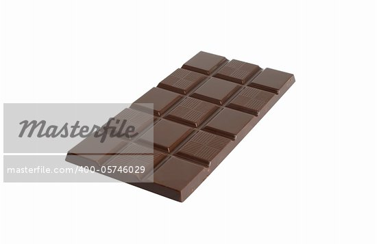 Bar of milk chocolate isolated on white background with clipping path Stock Photo - Royalty-Free, Artist: kvkirillov                    , Code: 400-05746029