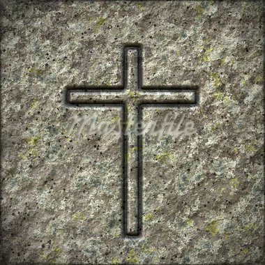 An image of a stone texture with a cross Stock Photo - Royalty-Free, Artist: magann                        , Code: 400-05746034