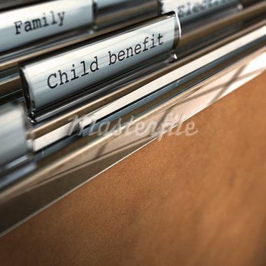 child benefit writen onto a folder, there is room for text a the bottom, blur effect Stock Photo - Royalty-Free, Artist: olivier26                     , Code: 400-05746060