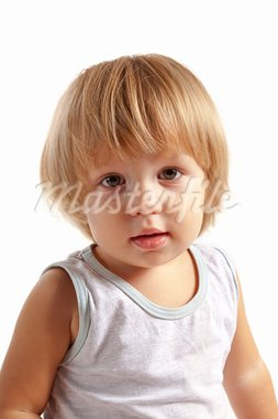 Portrait of cute little boy, isolated on white background Stock Photo - Royalty-Free, Artist: Elisanth                      , Code: 400-05748482