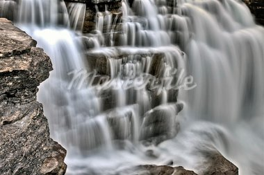 Athabasca Waterfall Alberta Canada river flow and blurred water Stock Photo - Royalty-Free, Artist: pictureguy                    , Code: 400-05748682