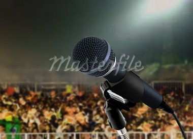 microphone live in concert Stock Photo - Royalty-Free, Artist: razihusin                     , Code: 400-05749273