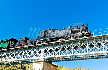 steam train in Douro Valley, Portugal Stock Photo - Royalty-Free, Artist: phbcz                         , Code: 400-05749853