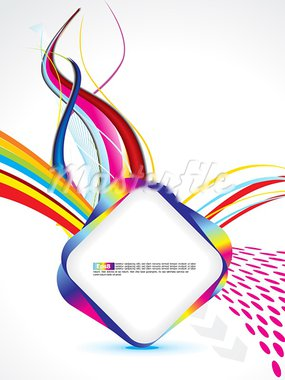 abstract colorful rainbow template vector illustration Stock Photo - Royalty-Free, Artist: pathakdesigner                , Code: 400-05750345