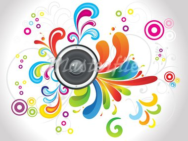 abstract colorful floral with sound vector illustration Stock Photo - Royalty-Free, Artist: pathakdesigner                , Code: 400-05750367