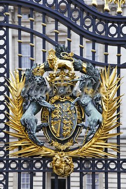 Details of the gates in front of Buckingham Palace in London Stock Photo - Royalty-Free, Artist: ribeiroantonio                , Code: 400-05751369