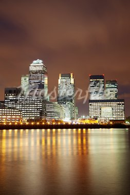 London skyscrapers and Thames in Docklands Stock Photo - Royalty-Free, Artist: tommyandone                   , Code: 400-05752065