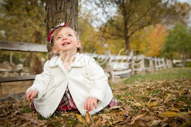 Adorable Baby Girl Playing Outside in the Park. Stock Photo - Royalty-Free, Artist: Feverpitched                  , Code: 400-05752076