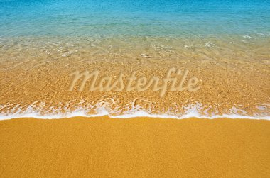 Surf on a tropical beach - summer background Stock Photo - Royalty-Free, Artist: pzaxe                         , Code: 400-05752117