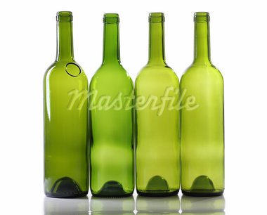 Color photo of a glass bottles with a white background Stock Photo - Royalty-Free, Artist: grynold                       , Code: 400-05752118