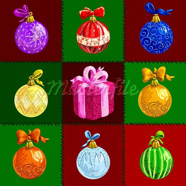 christmas background, this illustration may be useful as designer work Stock Photo - Royalty-Free, Artist: Lady_Aqua                     , Code: 400-05752121