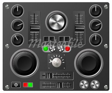 Mixing desk production sound or video desk console sliders, buttons, knobs and switches Stock Photo - Royalty-Free, Artist: Krisdog                       , Code: 400-05752496