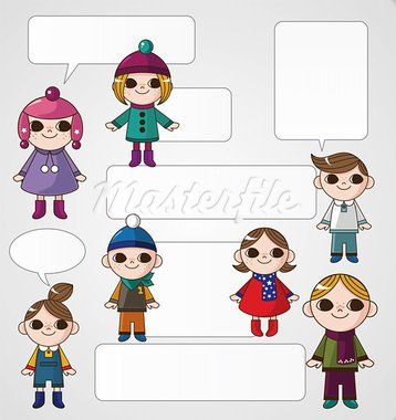 winter children card Stock Photo - Royalty-Free, Artist: notkoo2008                    , Code: 400-05753375