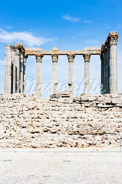 Roman temple of Diana, Evora, Alentejo, Portugal Stock Photo - Royalty-Free, Artist: phbcz                         , Code: 400-05753409